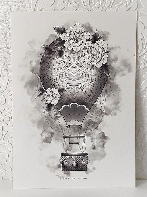 A3 Hot Air Balloon Print