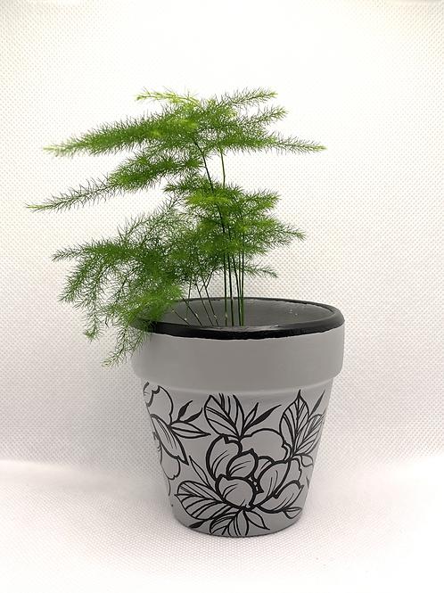 Grey Plant Pot