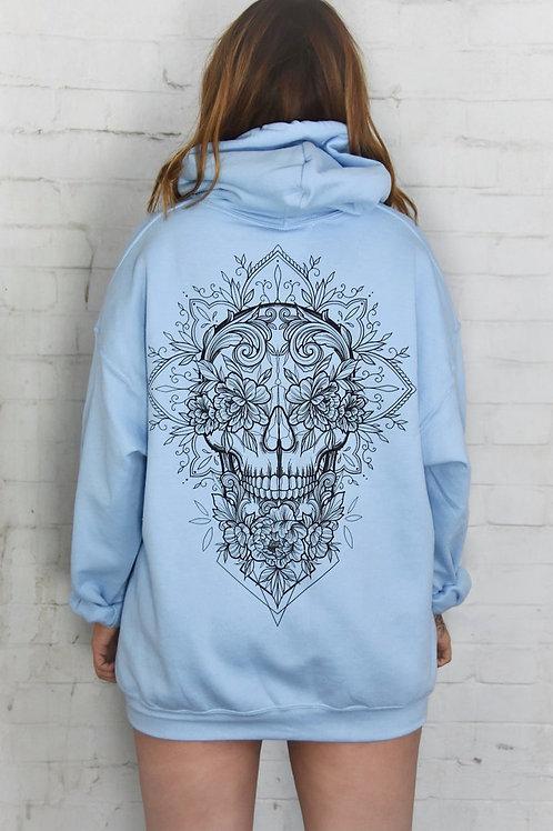 Skull Hoodie Blue