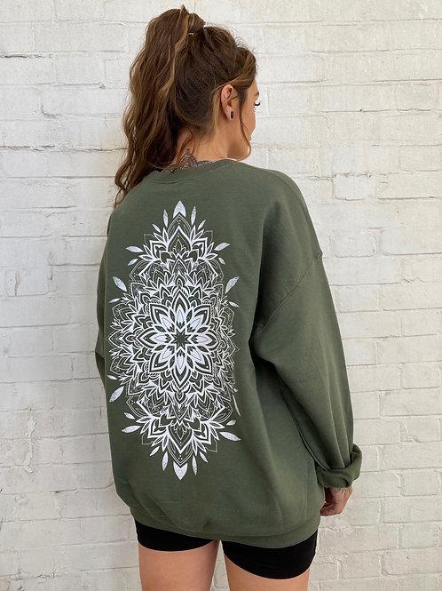Mandala Sweatshirt- Khaki