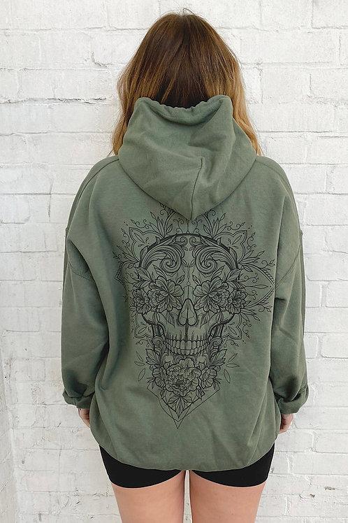Skull Hoodie Khaki