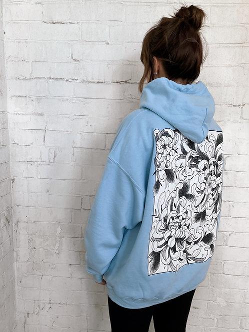 Fleur Hoodie- Blue