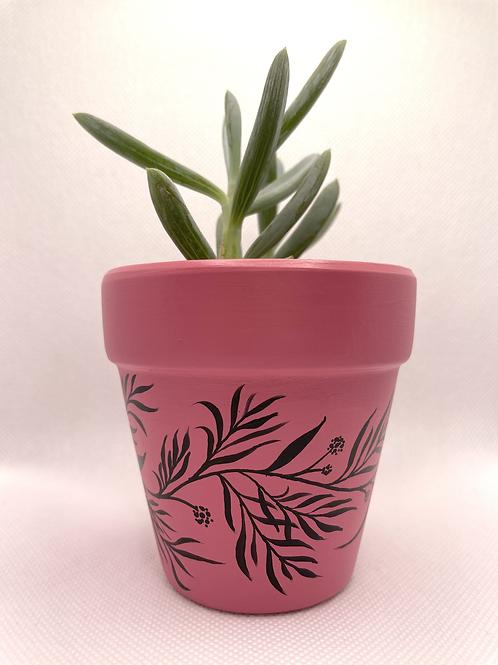 Pink Leaf Plant Pot