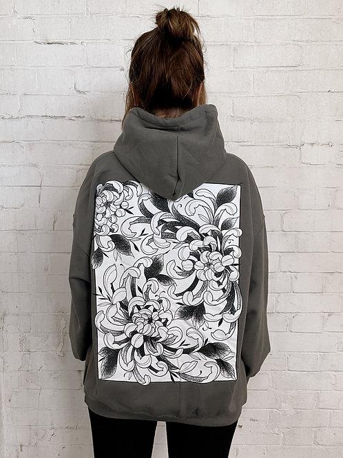 Fleur Hoodie- Charcoal