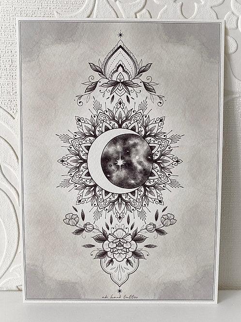 A5 Moon Print