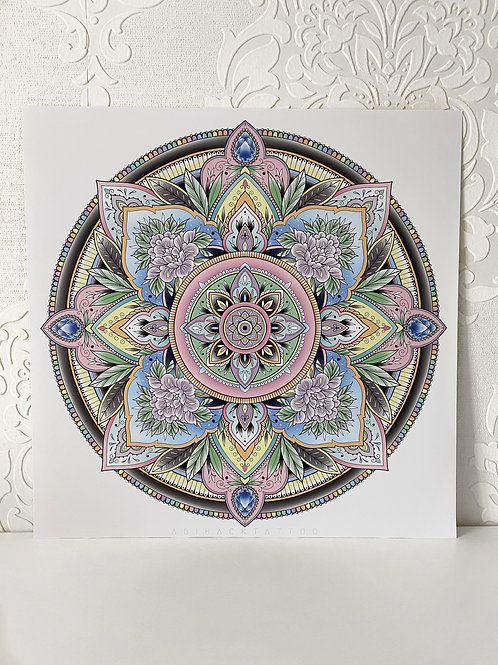 Pastel Mandala Print