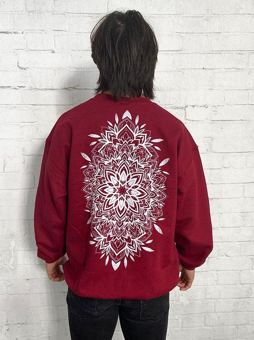 Mandala Sweatshirt- Garnet