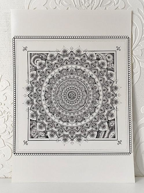 A3 Galaxy Mandala Print