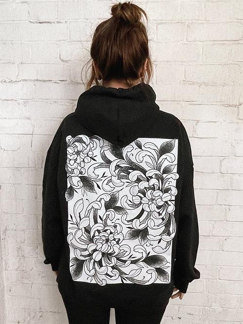 Fleur Hoodie- Black