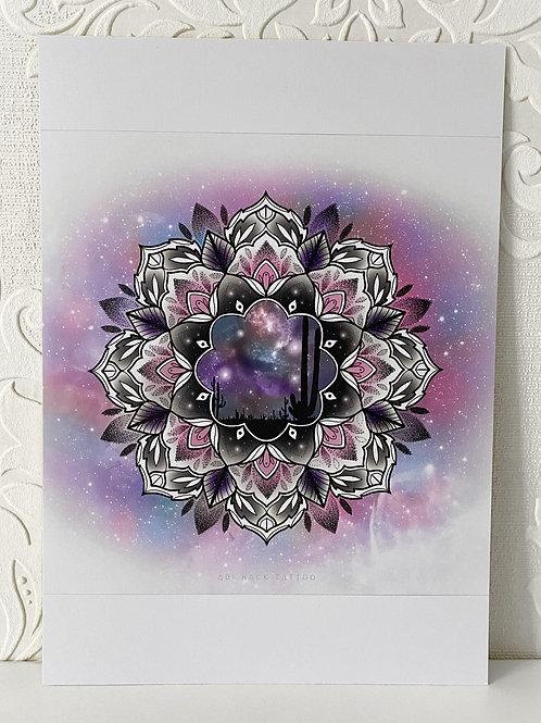 Desert Mandala Print