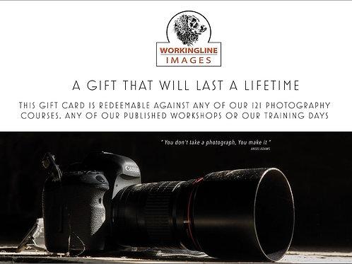 PHOTOGRAPHY TRAINING GIFT VOUCHER