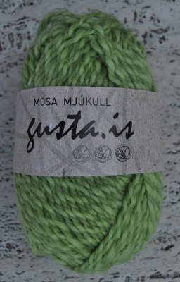 8100 - Light green,  Mosa mjukull yarn