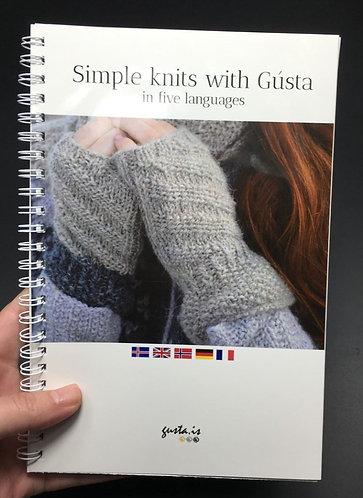 Simple knits with Gústa in 5 Languages - Prjónað með gústu