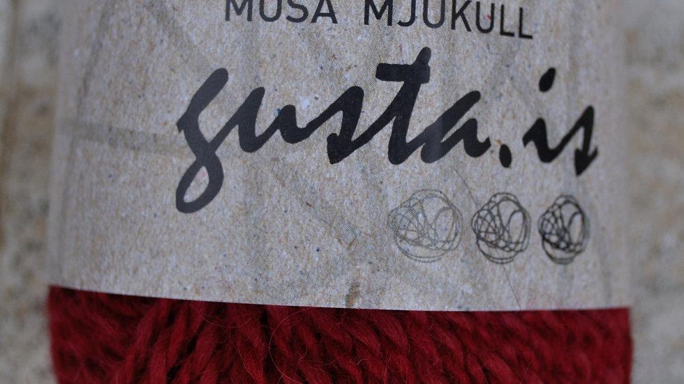 6000 Rauður Mosa mjúkull garn