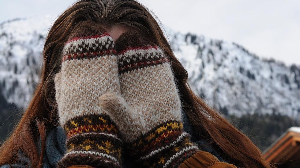 Knitting pack Margret mittens