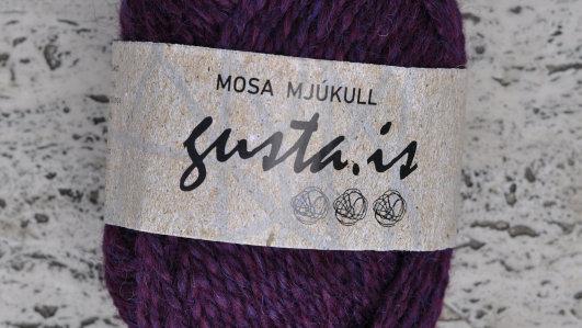 4500 Plómurauður Mosa mjúkull garn