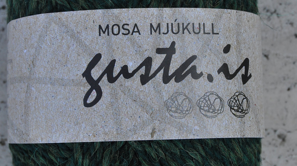 8000 Flöskugrænn Mosa mjúkull garn