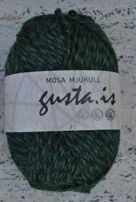 8000 - Bottle green,  Mosa mjukull yarn