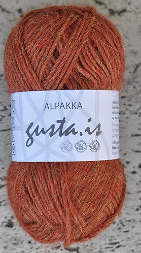 6100- orange,  Gústa Alpaca yarn