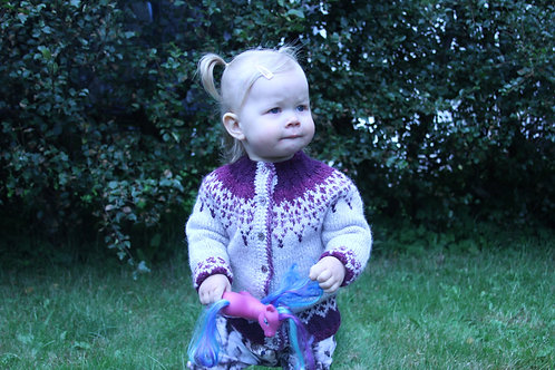 Tinna cardigan kids- Hand knitted for you from Mosa mjúkull