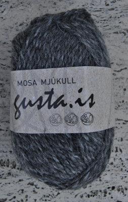 2500 - Coalgray,  Mosa mjukull yarn