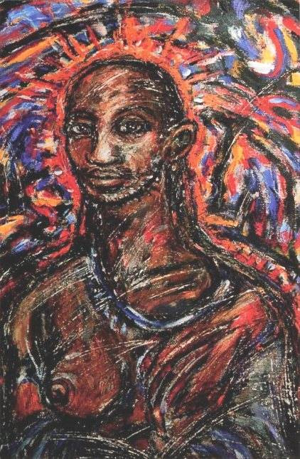 Clive Barker PieOhPah pre-1997 Acrylic and Oil Pastel on Paper pub in Imajica CCG