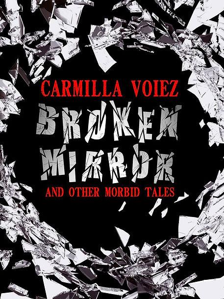 Broken Mirror book cover. Shattered glass.