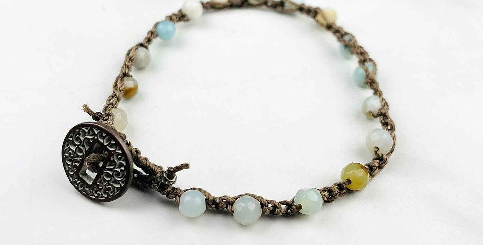 Amazonite Crocheted Bracelet