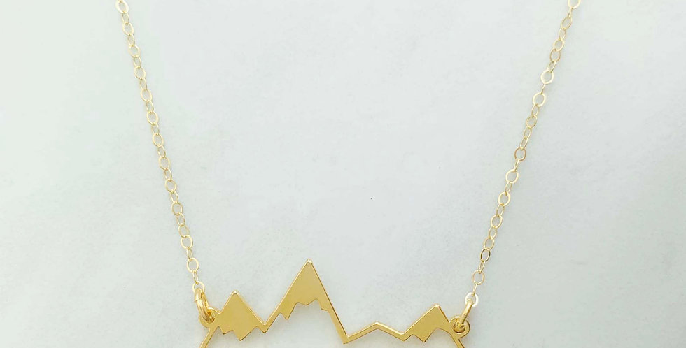 Mountain Necklace Gold Fill