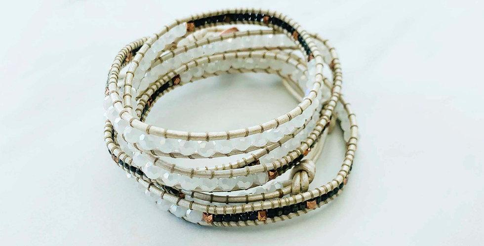 Pyrite & Copper Wrap Bracelet