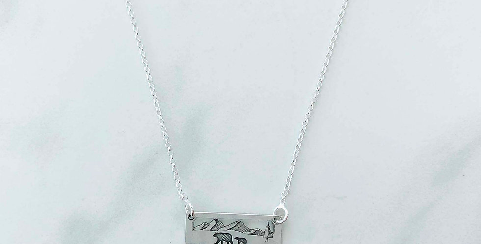 Momma Bear One Cub Necklace