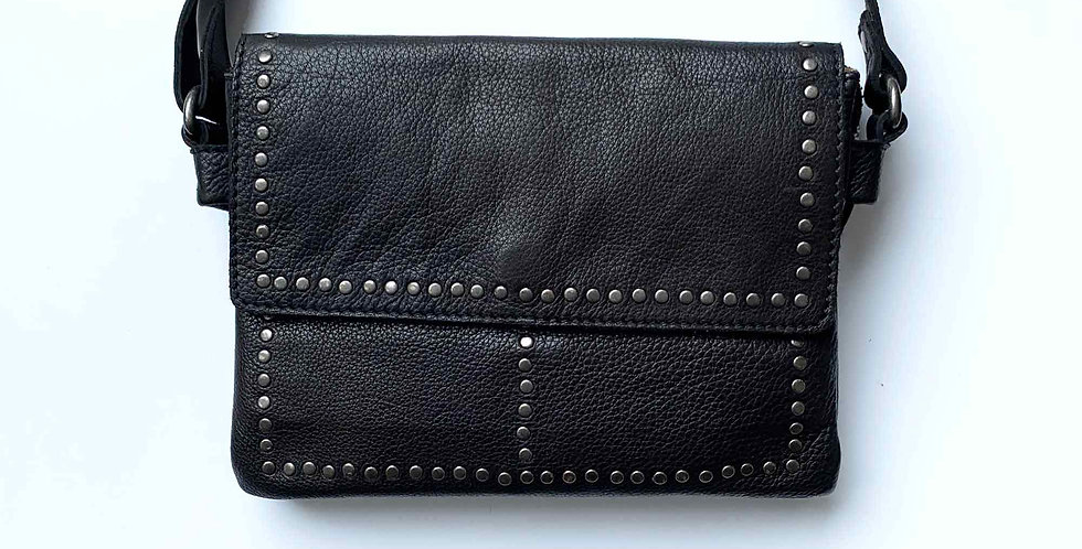 Leather Studded Crossbody