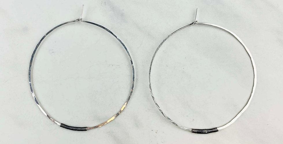 Sol Hoop Earrings - Sterling Silver