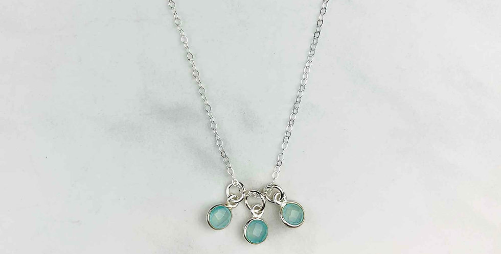 3-Drop Chalcedony Necklace