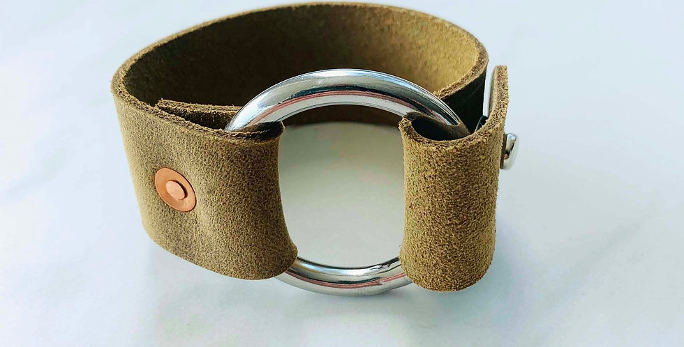 Leather Cuff - Natural Brown