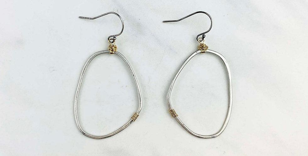 Freeform Earrings - Sterling Silver