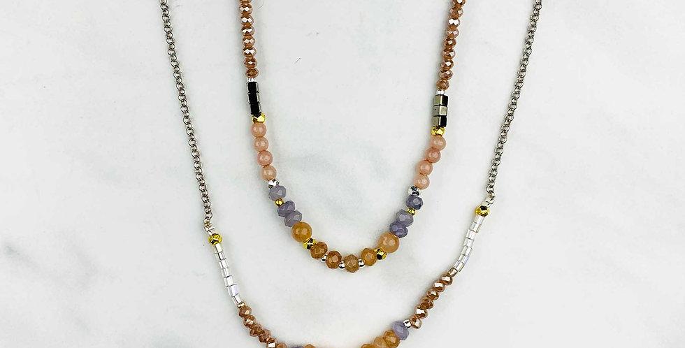 Labradorite & Rose Quartz Necklace
