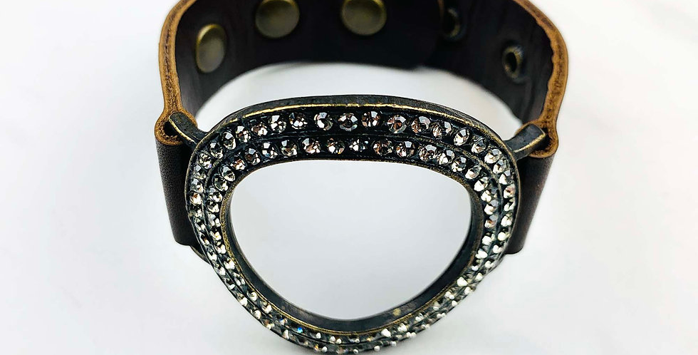 Open Circle Black Diamond Bracelet