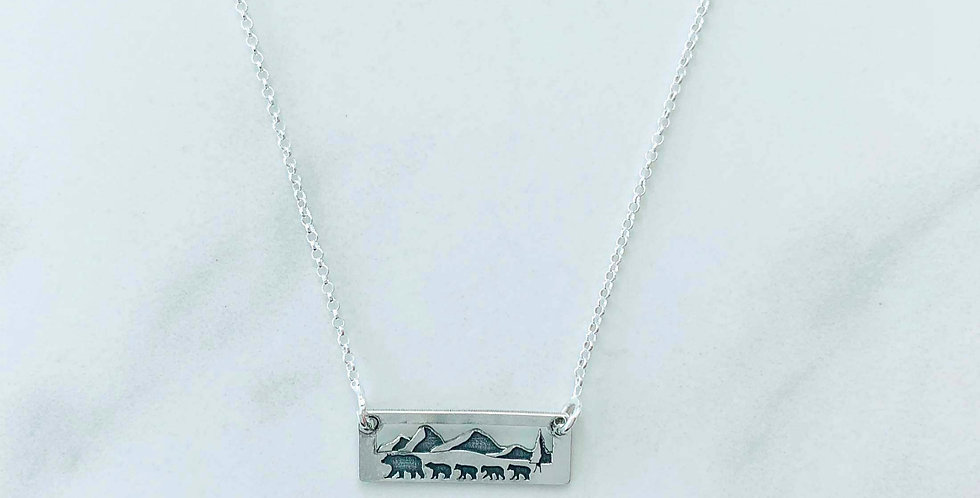 Momma Bear Four Cubs Necklace