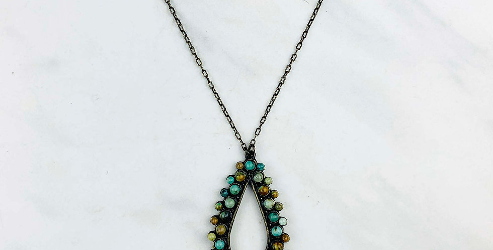 Teardrop African Turquoise Necklace