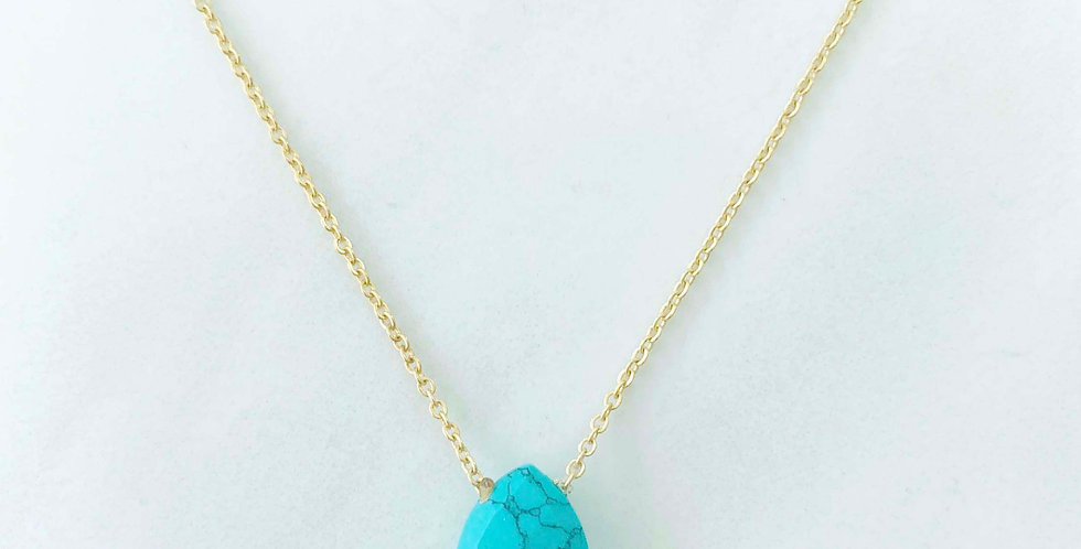 Oval Turquoise Necklace