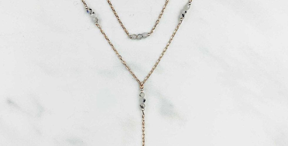 Double Strand Rutilated Quartz Necklace