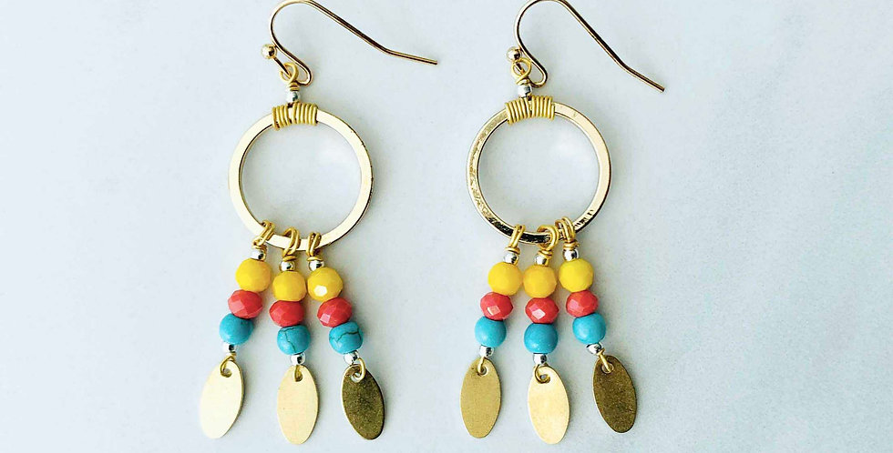 Gold Fiesta Earrings
