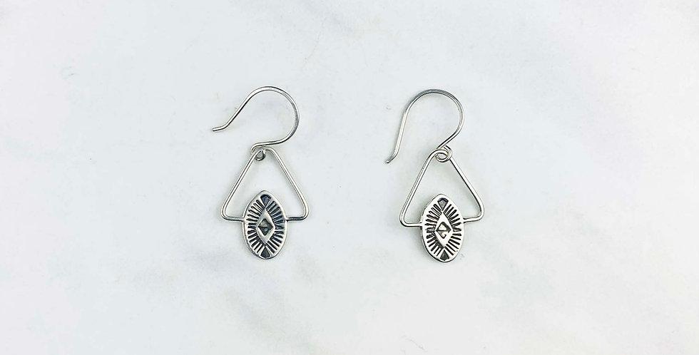 Southwest Triangle Sterling Silver Earrings