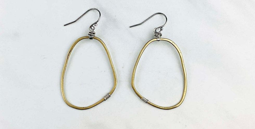 Freeform Earrings - Yellow Bronze