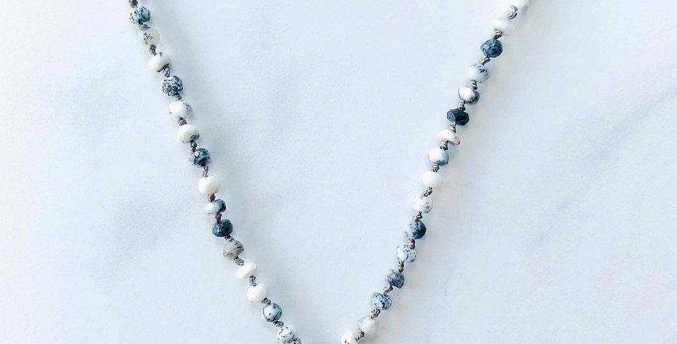 Amazonite & Dalmatian Jasper Necklace