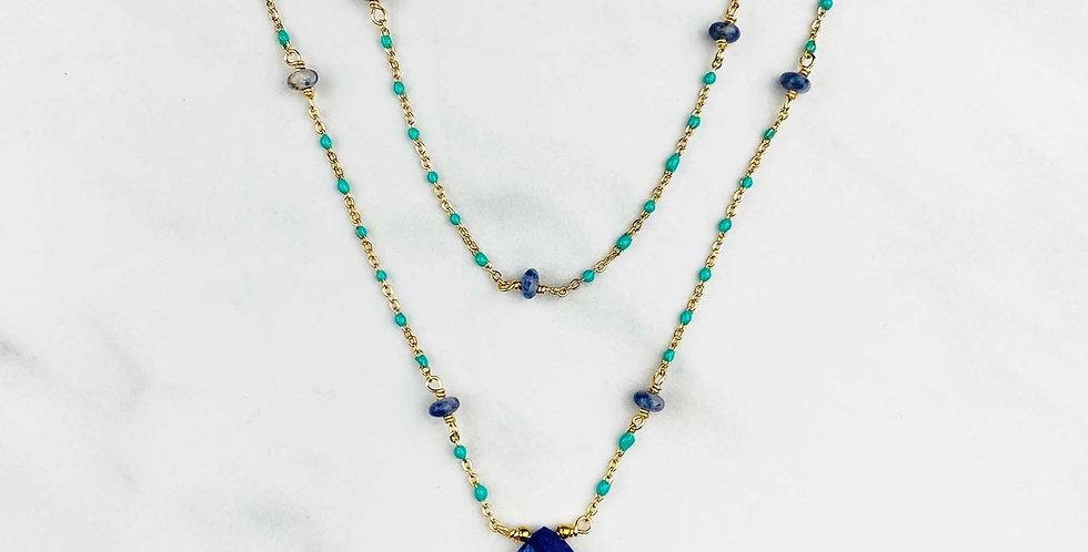 Lapis Double Strand Necklace