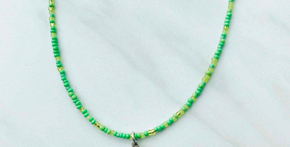 Leaf Pendant Navajo Necklace