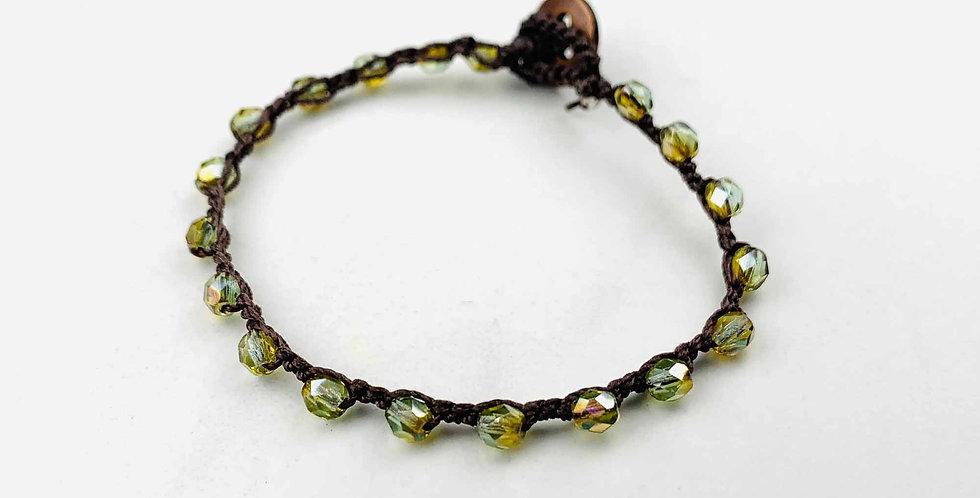 Pyrite Crocheted Bracelet