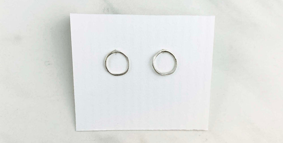 Small Circle Studs - Sterling Silver